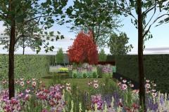 terras naar tuinhuis